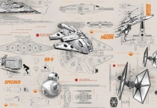 Fototapete Star Wars Blueprints