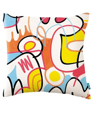 Kissen Wobblepotamus Pencil Case - Jon Burgerman