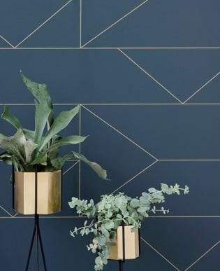 Lines Wallpaper Blau