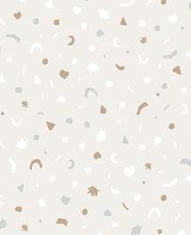 Kindertapete arnold in grau mit lustigen geometrischen for Sternentapete grau