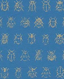 Tapete Beetle Blau