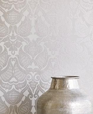Tapete Petrol Silber moderne tapeten - tapetenstudio.de
