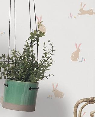 Tapete Rabbits Grau