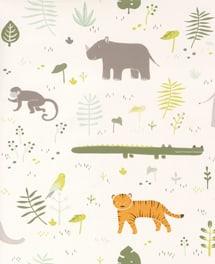 Tapete Safari Grün