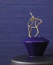 Tapete Silk Blau