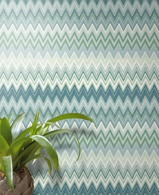 Tapete Tivoli Blau - Missoni Home