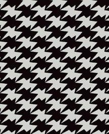 Tapete Zig Zag Birds Monochrome