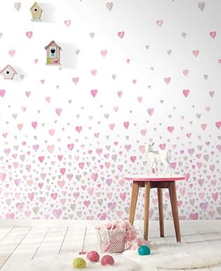 Wandbild Heart Rosa