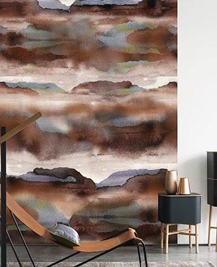 Wandbild Iron Braun
