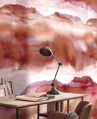 Wandbild Iron Rosa