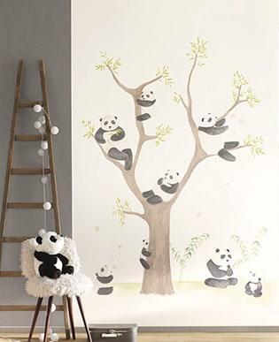 Wandbild Pandas